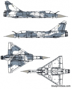 dassault mirage 2000 2 model airplane plan