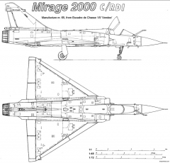 dassault mirage 2000 3 model airplane plan
