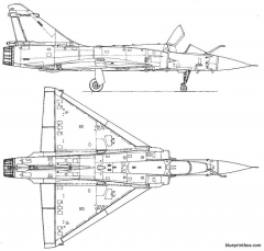 dassault mirage 2000 c 2 model airplane plan
