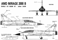 dassault mirage 2000b 2 model airplane plan