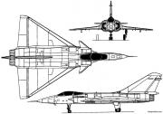 dassault mirage 4000 1979 france model airplane plan