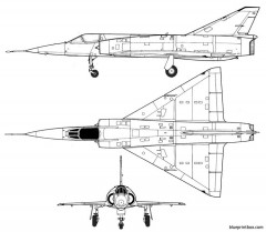 dassault mirage 5 model airplane plan