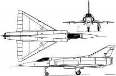 dassault mirage 5 1967 france model airplane plan