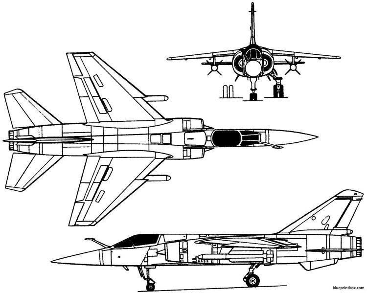 dassault mirage f1 1966 france model airplane plan