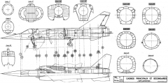 dassault mirage f1 4 model airplane plan