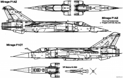 dassault mirage f1 7 model airplane plan