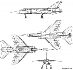 dassault mirage f 1c model airplane plan