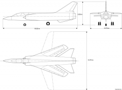 dassault mirage g model airplane plan