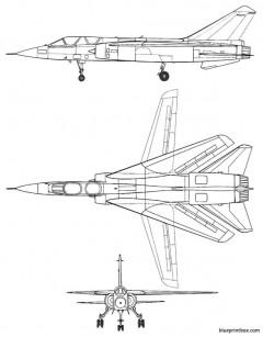 dassault mirage g 8 model airplane plan