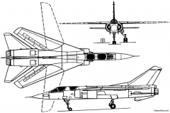 dassault mirage g  g8 1967 france model airplane plan