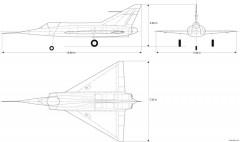 dassault mirage i model airplane plan
