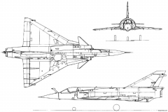 dassault mirage iii 10 model airplane plan