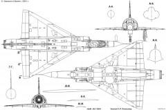 dassault mirage iii 3 model airplane plan
