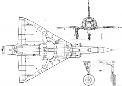 dassault mirage iii 4 model airplane plan