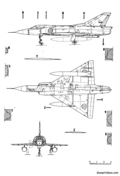 dassault mirage iiic 4 model airplane plan