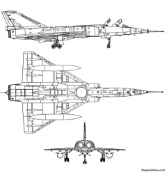 dassault mirage iva model airplane plan