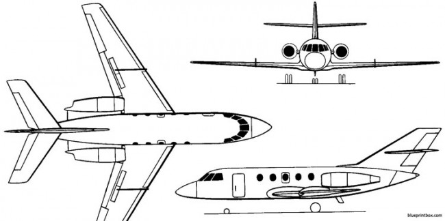 dassault mystere falcon 20 200 1963 france model airplane plan