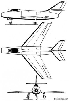 dassault mystere iva model airplane plan