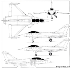 dassault rafale 02 model airplane plan