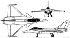dassault rafale 1986 france model airplane plan