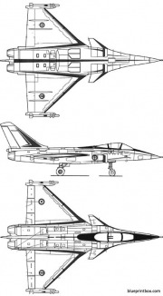 dassault rafale 2 model airplane plan