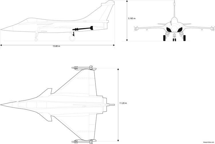 dassault rafale 4 model airplane plan