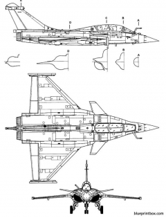 dassault rafale b model airplane plan