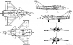 dassault rafale b 2 model airplane plan