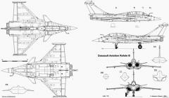 dassault rafale b 3 model airplane plan