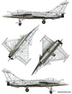 dassault rafale m model airplane plan