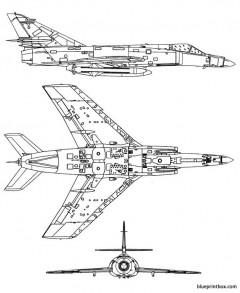 dassault super etendard 2 model airplane plan