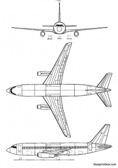 dassaultmercure model airplane plan