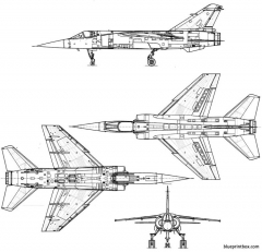dassaultmirage f 1 model airplane plan
