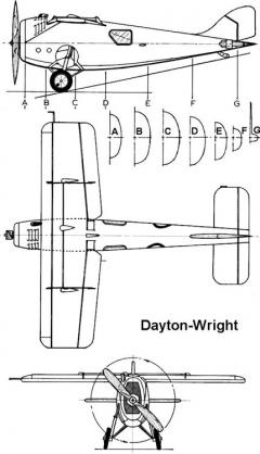 dayton wright 3v model airplane plan