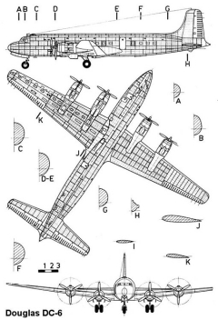dc6 3v model airplane plan