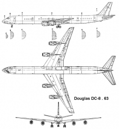 dc8 63 3v model airplane plan