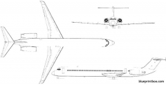 dc9 super 80 02 model airplane plan