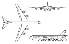 dc 8 model airplane plan