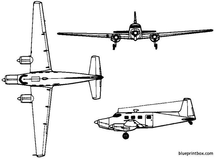 de havilland australia dha 3 drover 1948 australia model airplane plan