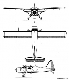 de havilland canada dhc 2 beaver model airplane plan