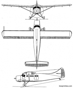 de havilland canada dhc 3 otter model airplane plan