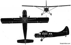 de havilland canada dhc 3 otter 1951 canada model airplane plan