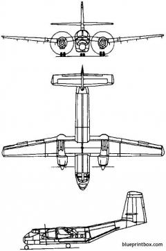 de havilland canada dhc 4 caribou 1958 canada model airplane plan