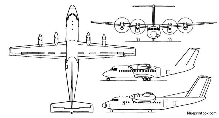 de havilland canada dhc 7 model airplane plan