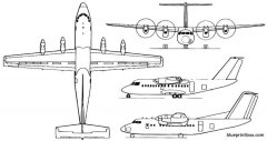 de havilland canada dhc 7 dash 7 model airplane plan