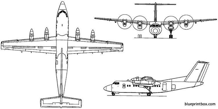 de havilland canada dhc 7 dash 7 1975 canada model airplane plan