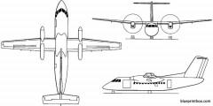 de havilland canada dhc 8  bombardier dash 8 series 100  200  q200 1983 canada model airplane plan