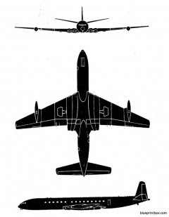 de havilland comet 4c model airplane plan