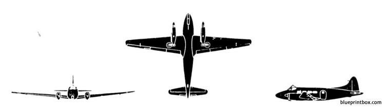 de havilland devon model airplane plan