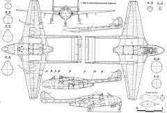 de havilland dh100 vampire model airplane plan